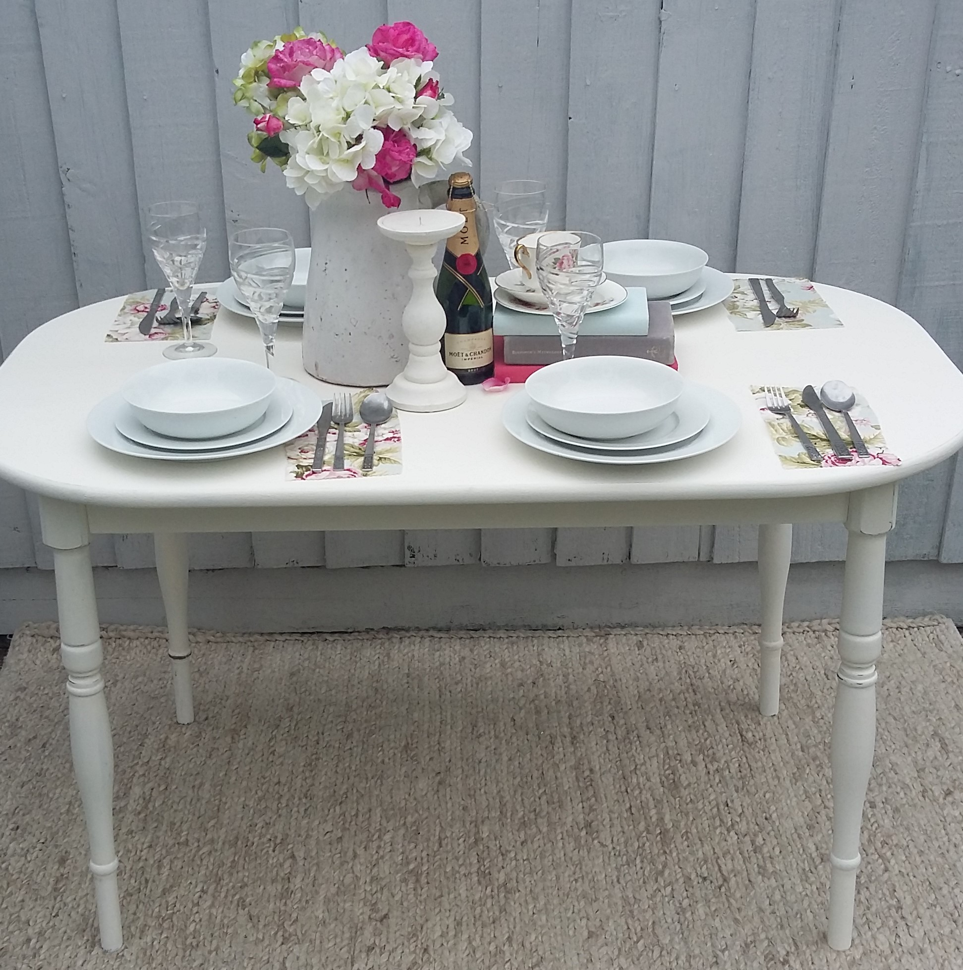 Shabby Chic Vintage Dining Table Amp Chairs Bees Knees