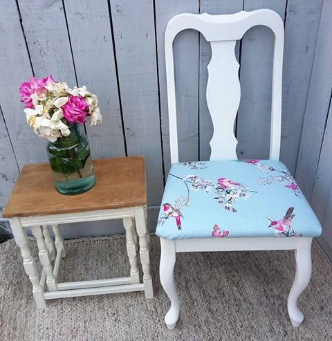 Shabby Chic Shabby Chic Chair Vintage Chair Beautiful Birds