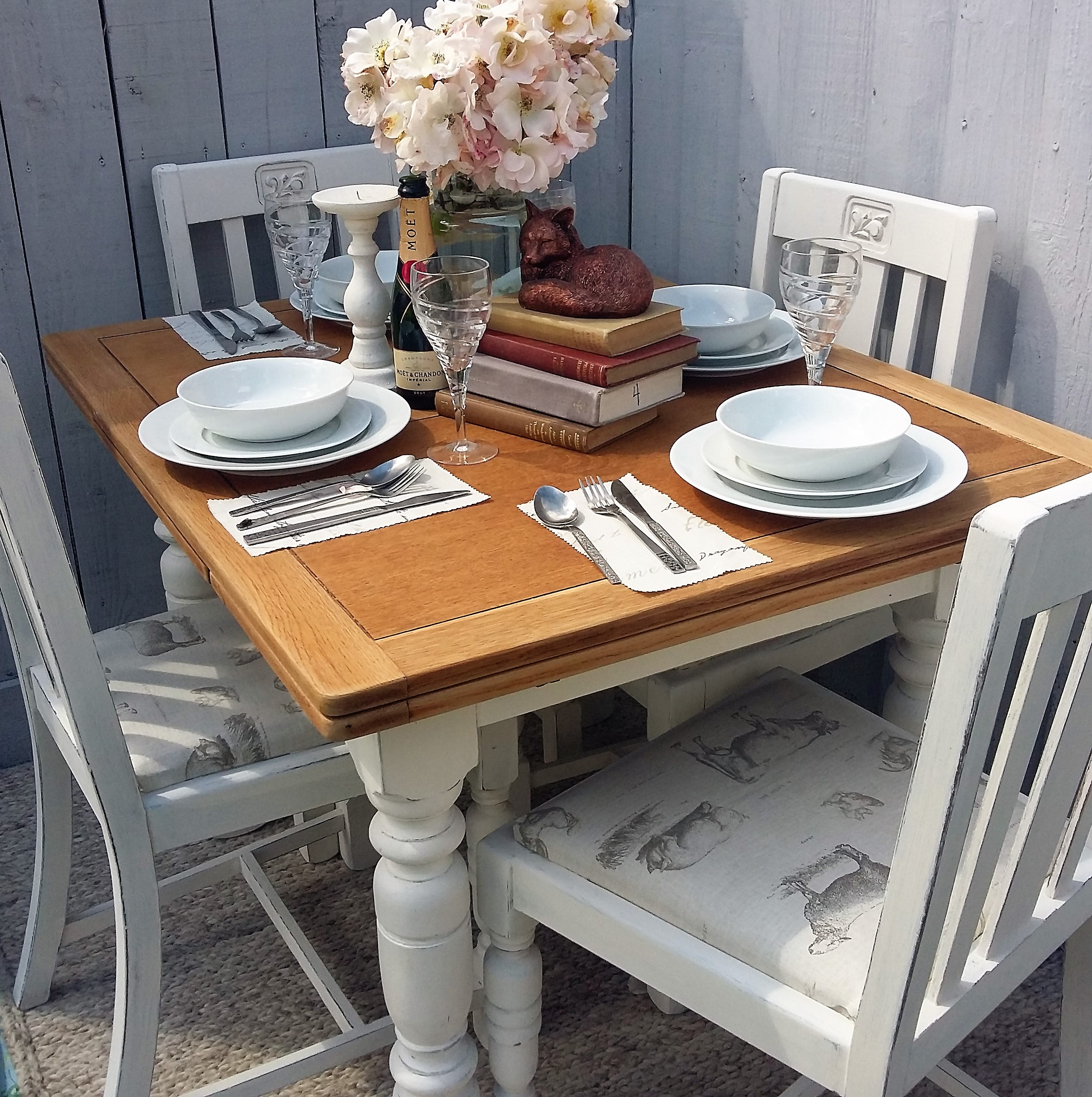 Stunning 1930 S Shabby Chic Vintage Dining Table And