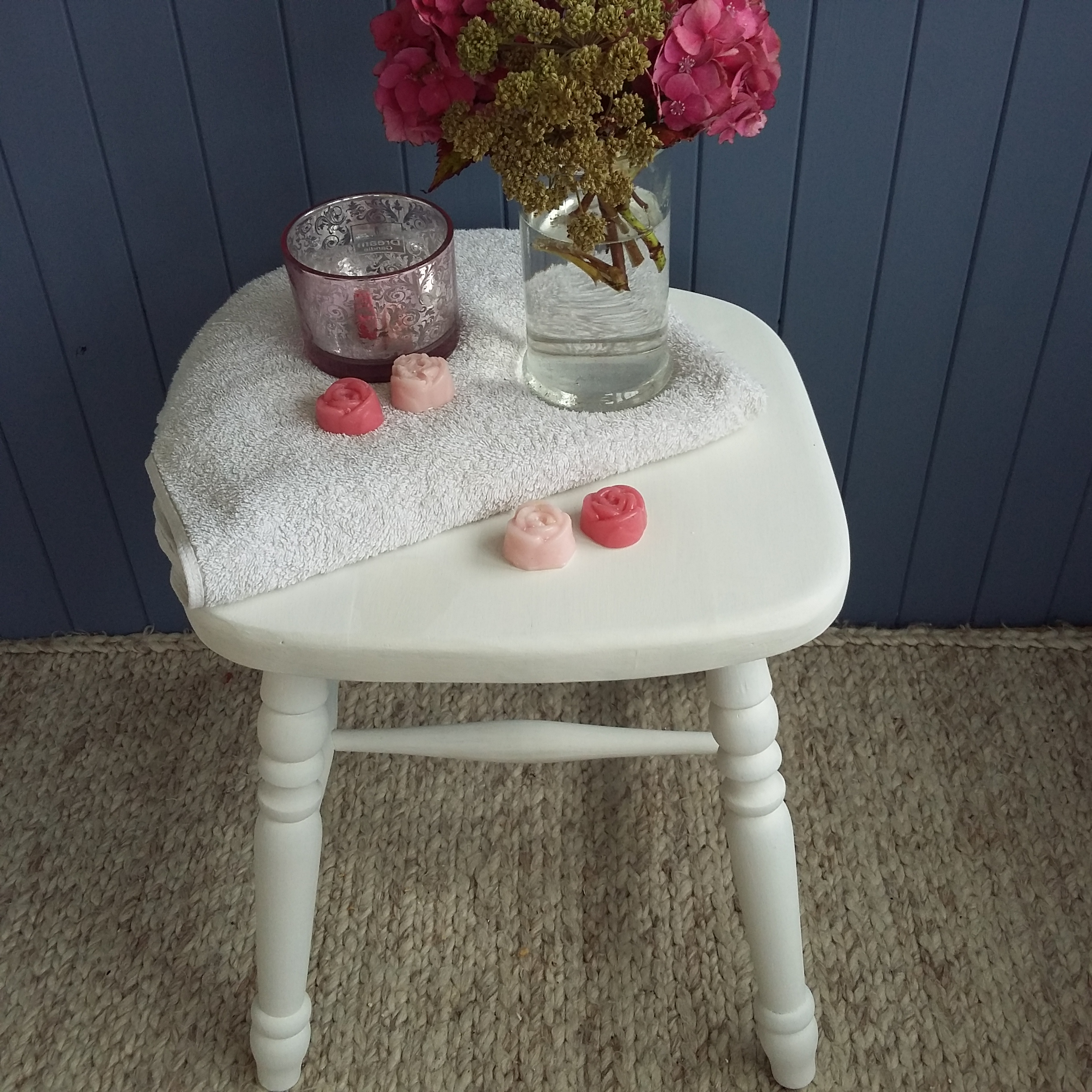 Shabbby Chic/Country Farmhouse Woooden Stool