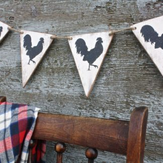 Farmhouse Rooster Country Banner