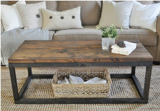 Lovely Rustic Industrial Coffee Table